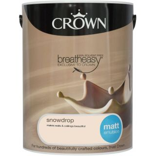 CROWN MATT EMULSION - SNOWDROP 5L