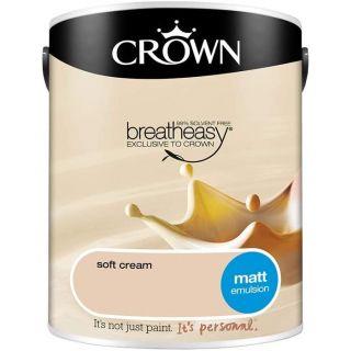 CROWN MATT EMULSION - SOFT CREAM 5L