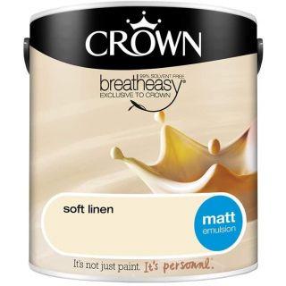 CROWN MATT EMULSION - SOFT LINEN 2.5L