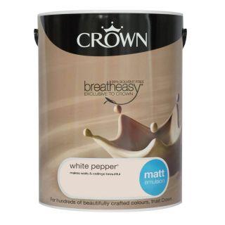 CROWN MATT EMULSION - WHITE PEPPER 5L