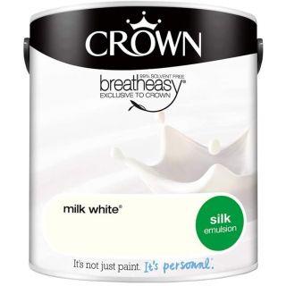 CROWN SILK EMULSION - MILK WHITE 2.5L