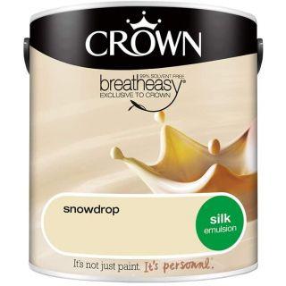 CROWN SILK EMULSION - SNOWDROP 2.5L