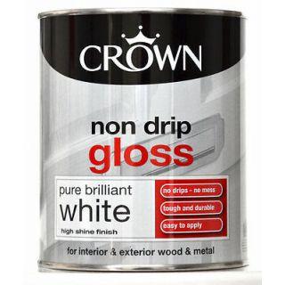 Crown non drip gloss Pure Brilliant White - 750ml
