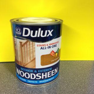 Dulux Interior/Exterior Cherrywood Woodsheen Stain&Varnish in one