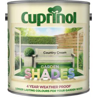New 2017 Cuprinol Garden Shades Country Cream 2.5L