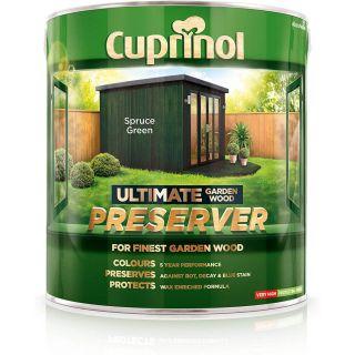 Cuprinol Ultimate Garden Wood Preserver - Spruce Green 4L