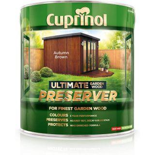 Cuprinol Ultimate Garden Wood Preserver - Autumn Brown 4L
