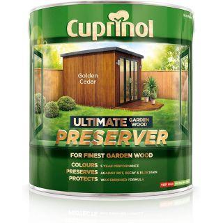 Cuprinol Ultimate Garden Wood Preserver - Golden Cedar 4L