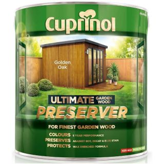 Cuprinol Ultimate Garden Wood Preserver - Golden Oak 4L