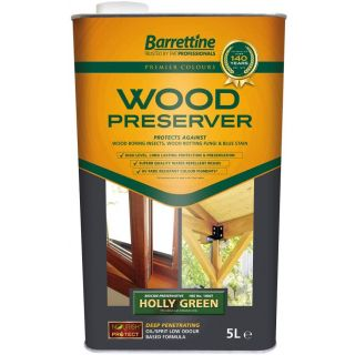 Nourish & Protect Wood Preserver - Holly Green 5L