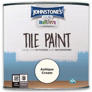 Johnstones Revive Tile Paint - Antique Cream 750ml
