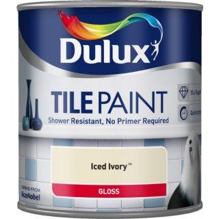 Dulux Paints Tile Paint Iced Ivory 600ml