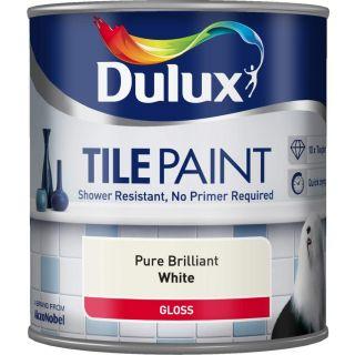 Dulux Tile Paint Pure Brilliant White 600ml