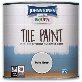 Johnstones Revive Tile Paint Pale Grey 750ml