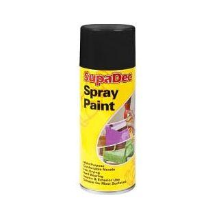 SupaDec Spray Paint - Gloss Black 400ml