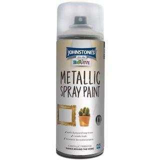 Johnstones Revive Metallic Spray Paint - Silver 400ml
