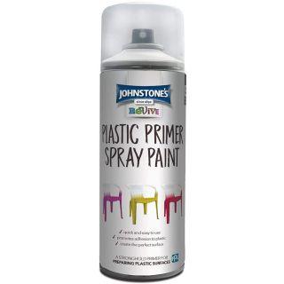 Johnstones Revive Plastic Primer Spray Paint - Clear 400ml