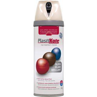 Plasti-kote Premium Spray Paint Gloss - Antique White 400ml