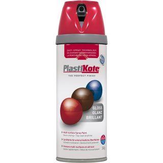 Plasti-kote Premium Spray Paint Gloss - Bright Red 400ml