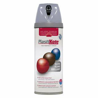 Plasti-kote Premium Spray Paint Gloss - Aluminium 400ml