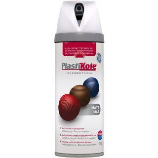 Plasti-kote Premium Spray Paint - Matt White 400ml