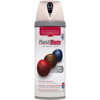 Plasti-kote Premium Spray Paint Matt - Antique White 400ml