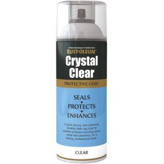 Rust-Oleum Crystal Clear Spray Paint-Semi Gloss 400ml