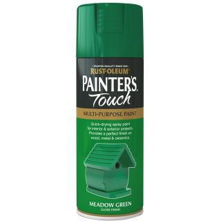 Rust-Oleum Painter's Touch Spray Paint - Meadow Green Gloss 400ml