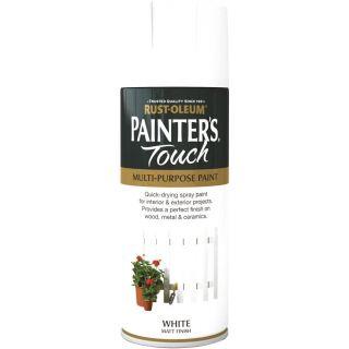 Rust-Oleum Painter's Touch Spray Paint - Matt White 400ml