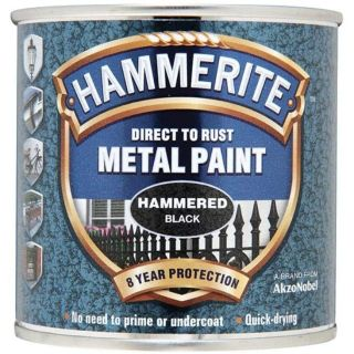 Hammerite Direct to Rust - Hammered Finish Black 250ml