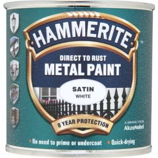 Hammerite 5092881 Metal Paint: Satin White 250ml