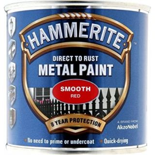 Hammerite Direct to Rust Metal Paint - Smooth Red Finish 250ML