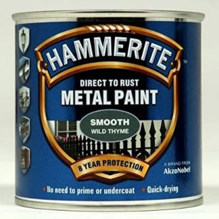 Hammerite Direct to Rust Metal Paint - Smooth Wild Thyme Finish 250ML