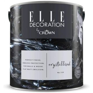 ELLE Decoration by CROWN Flat MATT Emulsion Paint - Crystallised No 109 2.5L