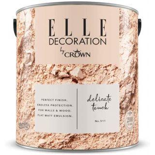 ELLE Decoration by CROWN Flat MATT Emulsion Paint - Delicate Touch No 511 2.5L