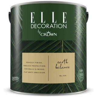 ELLE Decoration by CROWN Flat MATT Emulsion Paint - Earth Balance No 328 2.5L
