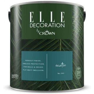 ELLE Decoration by CROWN Flat MATT Emulsion Paint - Exotic No 342 2.5L