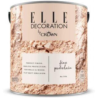 ELLE Decoration by CROWN Flat MATT Emulsion Paint - Fine Porcelain No 506 2.5L