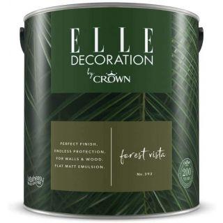 ELLE Decoration by CROWN Flat MATT Emulsion Paint - Forest Vista No 392 2.5L