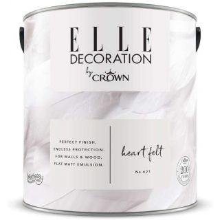 ELLE Decoration by CROWN Flat MATT Emulsion Paint - Heart Felt No 621 2.5L