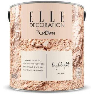 ELLE Decoration by CROWN Flat MATT Emulsion Paint - Highlight No 514 2.5L