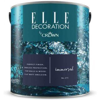 ELLE Decoration by CROWN Flat MATT Emulsion Paint - Immersed No 275 2.5L