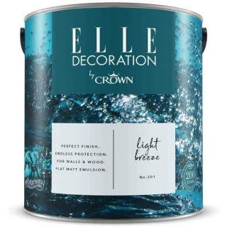ELLE Decoration by CROWN Flat MATT Emulsion Paint - Light Breeze No 201 2.5L