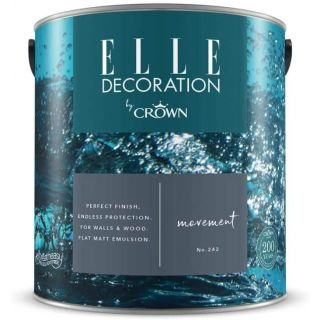 ELLE Decoration by CROWN Flat MATT Emulsion Paint - Movement No 242 2.5L