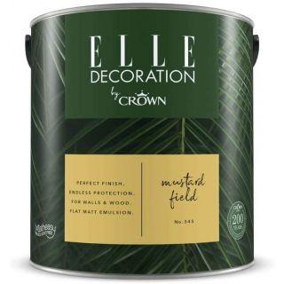 ELLE Decoration by CROWN Flat MATT Emulsion Paint - Mustard Field No 345 2.5L