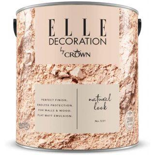 ELLE Decoration by CROWN Flat MATT Emulsion Paint - Natural Look No 531 2.5L