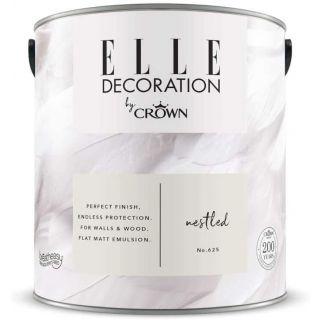 ELLE Decoration by CROWN Flat MATT Emulsion Paint - Nestled No 625 2.5L