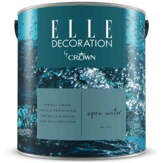 ELLE Decoration by CROWN Flat MATT Emulsion Paint - Open Water No 217 2.5L