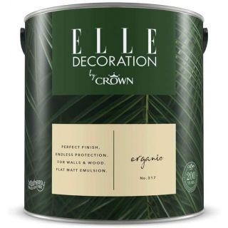 ELLE Decoration by CROWN Flat MATT Emulsion Paint - Organic No 305 2.5L