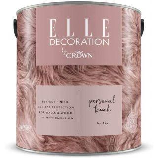 ELLE Decoration by CROWN Flat MATT Emulsion Paint - Personal Touch No 429 2.5L